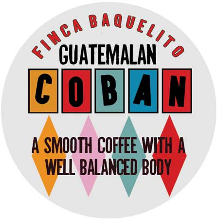Freshly roasted Coban coffee from Guatemala roasted by Real Deal Roasters